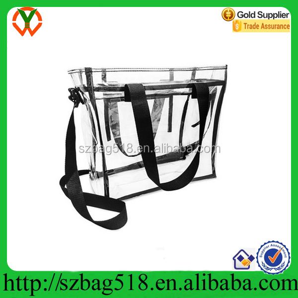 Clear Tote Bag Transparent PVC Handbag See-through Plastic Beach Bag