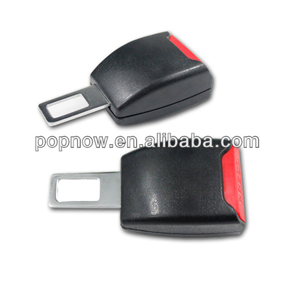 Universal Black Car Safety Seat Belt Extender Extension Clip Buckle, plastic seat belt buckle