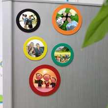Lovely Round shaped magnet picture frame for wedding for baby photo Decor cheap Promotional Gifts