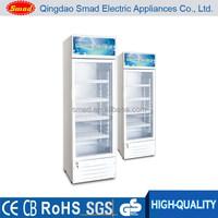 supermarket vertical soft drink refrigerated display freezer showcase