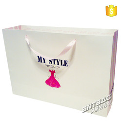 foldable shopping bag polyester, fashion printed recycle custom gift shopping paper bag