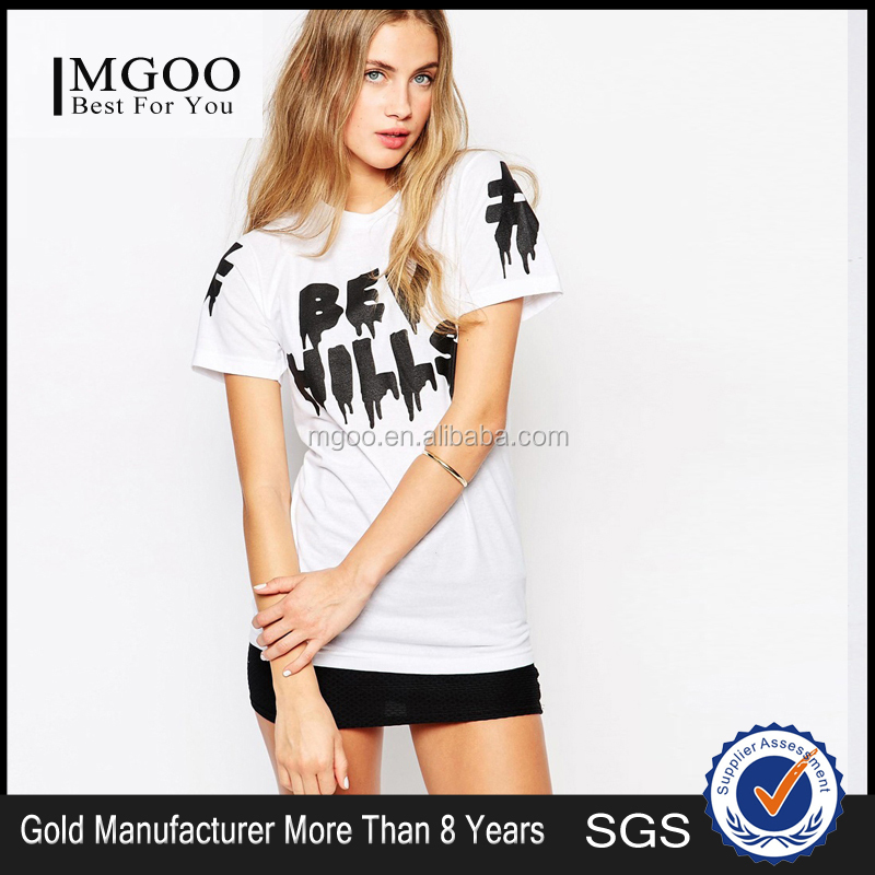 New Arrival Brand Design Women Modern White Rock T-shirts With Letters Print Women Tops 50726B717