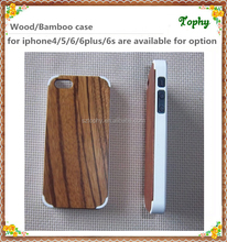 2016 Fashion Smart Phone Case Real zebra Wood plastic wooden Rubber Case For iPhone 5s 6s Case