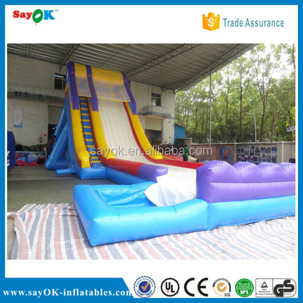 giant inflatable double lane slip water slide for adult