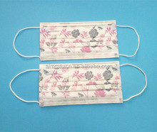 Different patterns and printings of custom face mask surgical mask