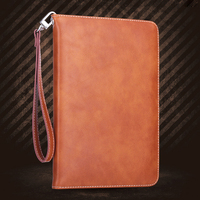For ipad Air 2 Retro Briefcase Hand Belt Holder Leather Case with Auto Wake Up Sleep Stand Flip Bags Cover