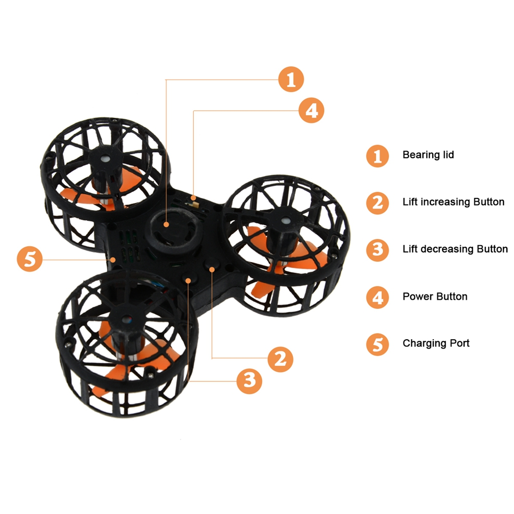 Amazon top seller 2018 Newest rechargeable flying drone fidget spinner toy/fidget toys for kids