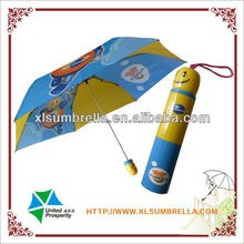 bright colored children umbrella is bottle cap umbrella