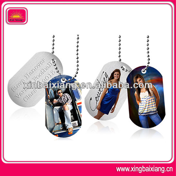 Promotional custom printed sexy girl dog tag with enamel