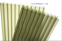 Foshan Tonon 6mm polycarbonate hollow sheet for bicycle roofing and garage