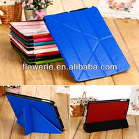 FL3325 2014 new products folding smart wake flip cover case for ipad air