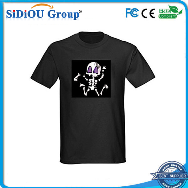 el voice sensor sound activated led t-shirt
