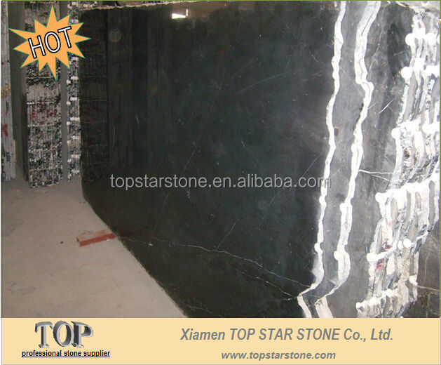 TOPSTAR black Marquina marble with less white veins
