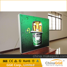 Aluminum Frameless display banner fabric lamp/light box for ad/publicity