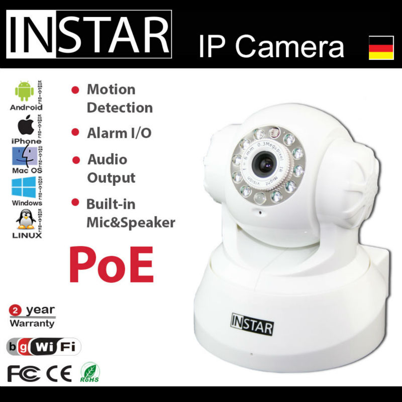 INSTAR IN-3010 PoE IR Night Vision Power over Ethernet Wlan Indoor IP Surveillance Camera Door Viewer Price Rovia