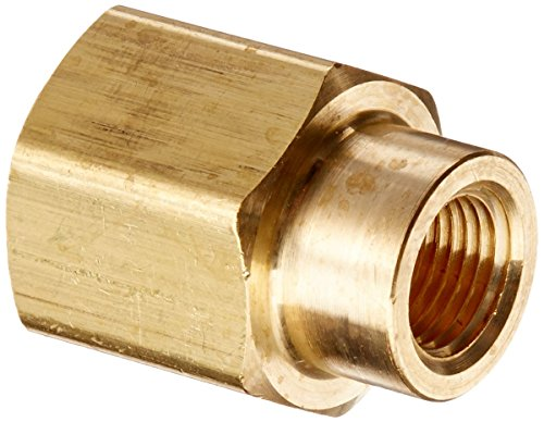 "<strong>3</strong>/8"" - 1/8"" Female Inch NPT Length 25mm Connection Thicken Brass Pipe Adapter Coupler Connector"