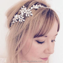 fashion handmade wedding <strong>hair</strong> <strong>accessories</strong> for women crystal tiara headband