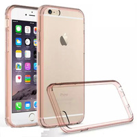 Double colors tpu acrylic crystal clear case for iphone 6 plus/6s plus transparent protective case