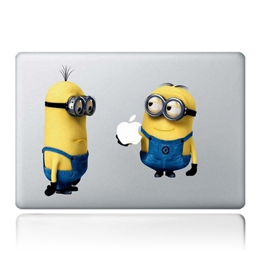 Freeshipping 2400DPI Minion decal for apple laptop sticker Lovely minion computer stickers laptop decal skin for mac adesivo