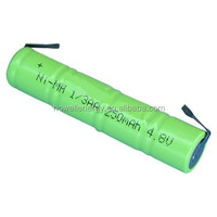 250mAh 4.8V 1/3aa nimh battery pack / Ni-MH rechargeable battery batteries
