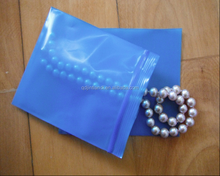 Qingdao JTD manufacturer wholesale custom blue zipper top reclosable VCI plastic poly bags