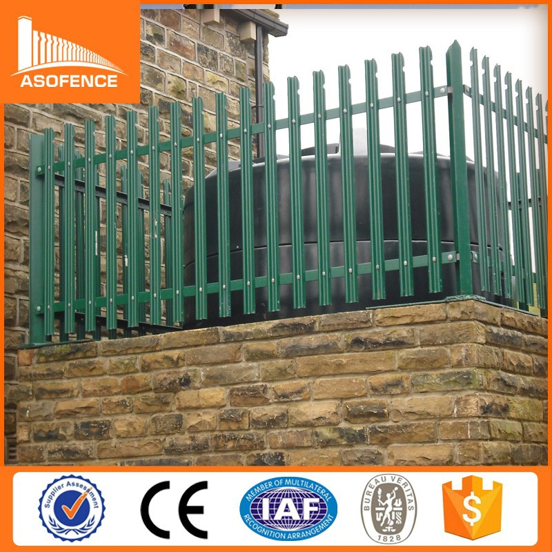 2015 Alibaba China Professional Prefab Palisade Fencingdecorative