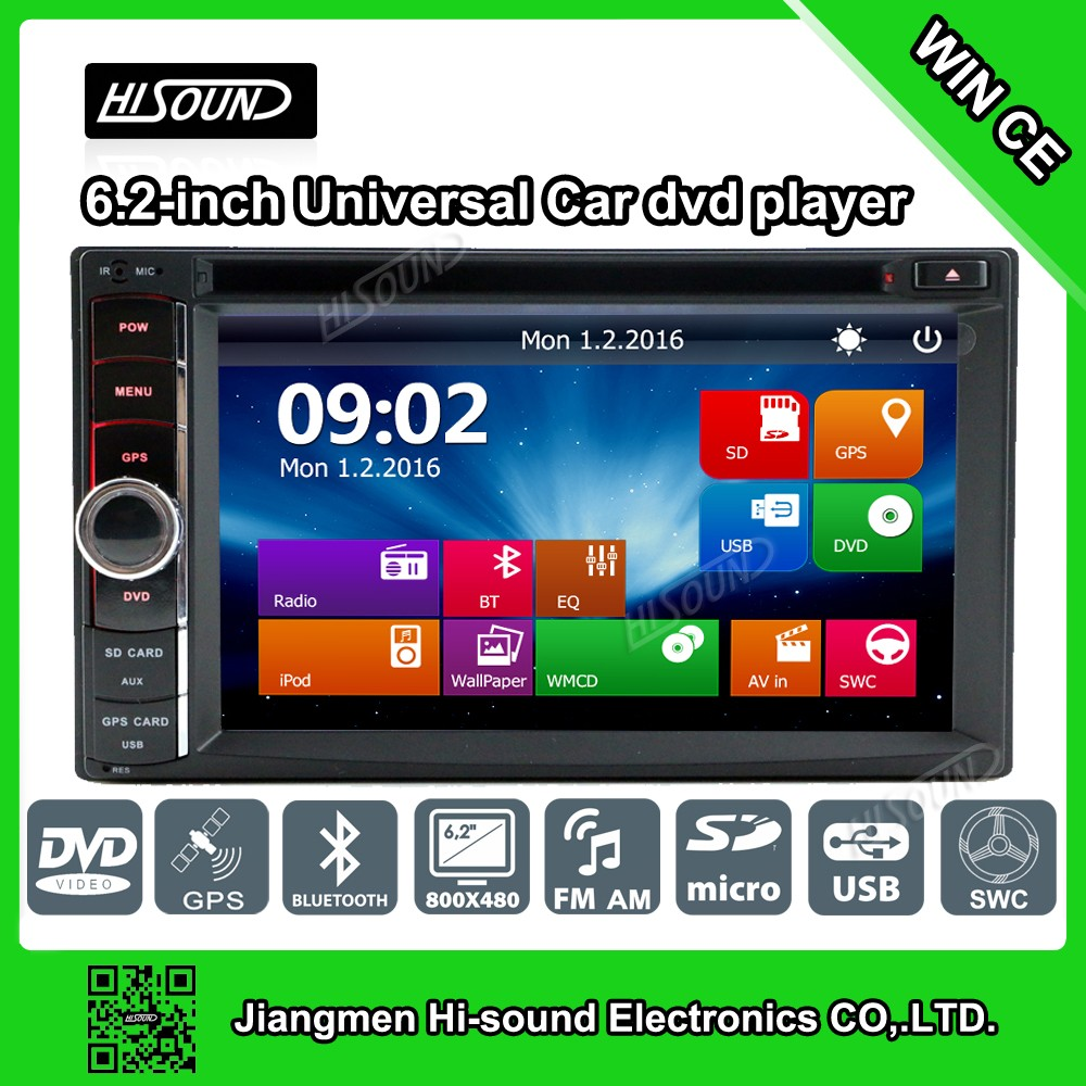 2din 6.2'' touch screen car stereo usb mp4 player with gps/bluetooth/1080p