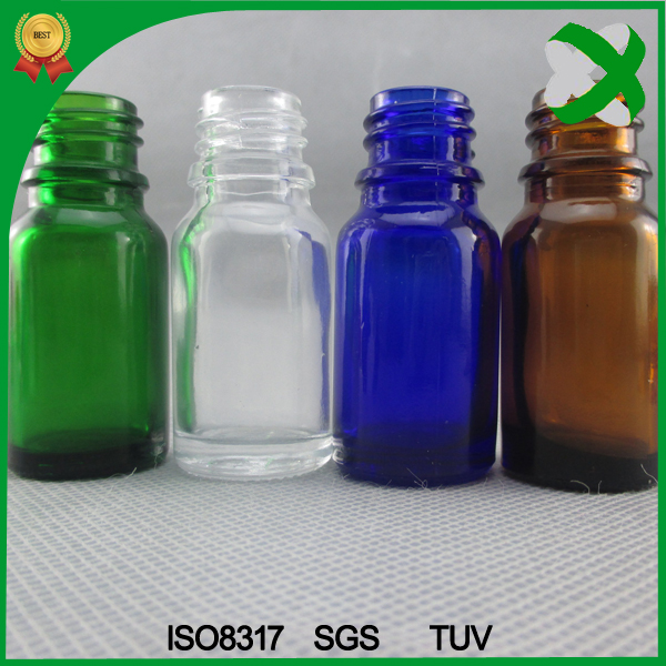 Aromatherapy car diffuser glass bottle 10ml , colorful e vape oil 10ml childproof dropper bottle cheaper