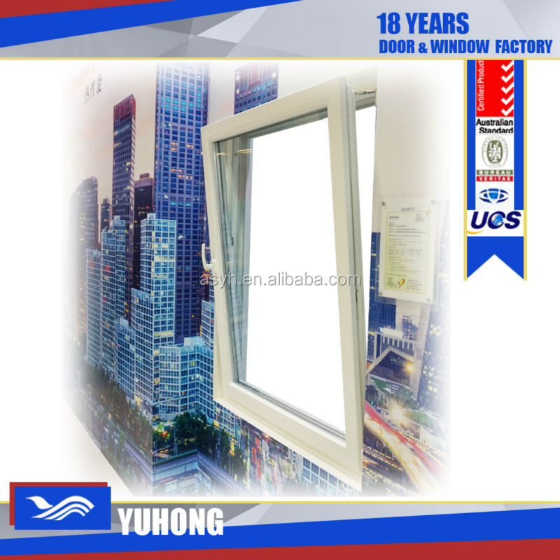 Window grill design two ways opening PVC plastic window
