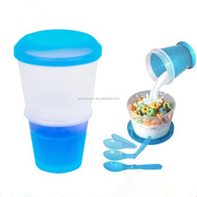 Manufacture Plastic Cereal Cup Salad Breakfast Cup