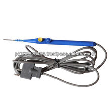 Reusable electrosurgical pencil with silicon cable
