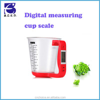 kitchen accessory 600ml LCD ABS+PC material plastic liquid digital measuring cup