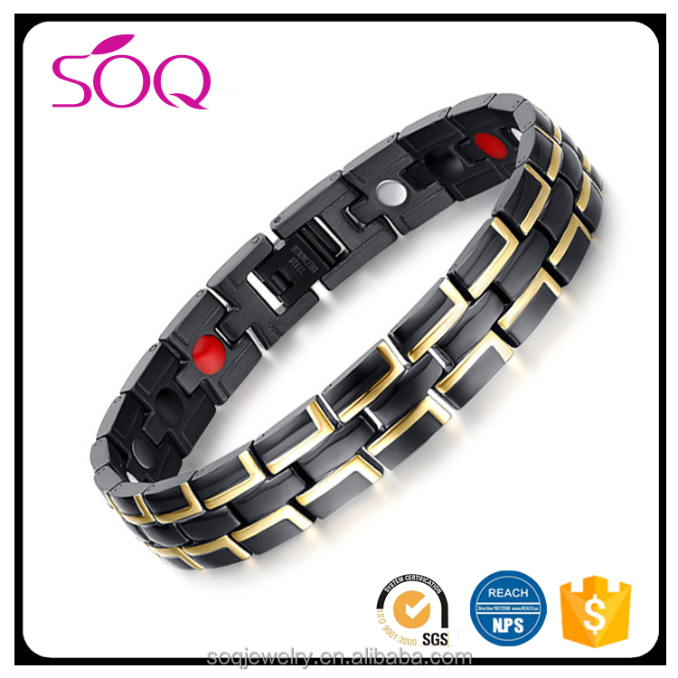 Western style hot trenty Titanium Stainless Steel Wholesale Medical Magnetic Bracelet