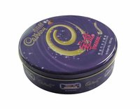 round gift tin box for Cadbury chocolate