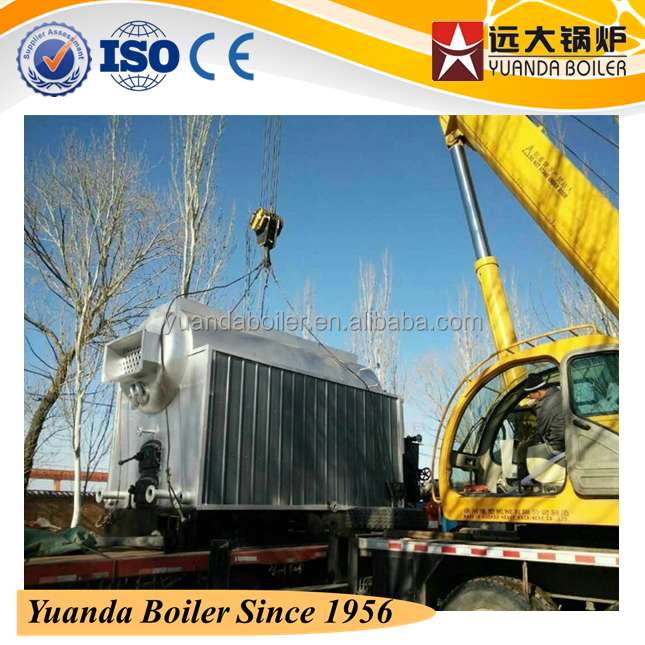 Automatic Chain Grate & Semi-auto Operation 8Ton Coal Steam Boiler