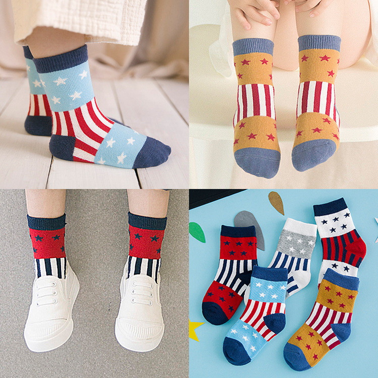 Children Toddler Socks Baby Boy Girl Kid Indoor Floor Sock Leather Sole Anti Slip Socks