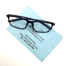 China Blue Microfiber Cloth For Cleaning Eyeglasses