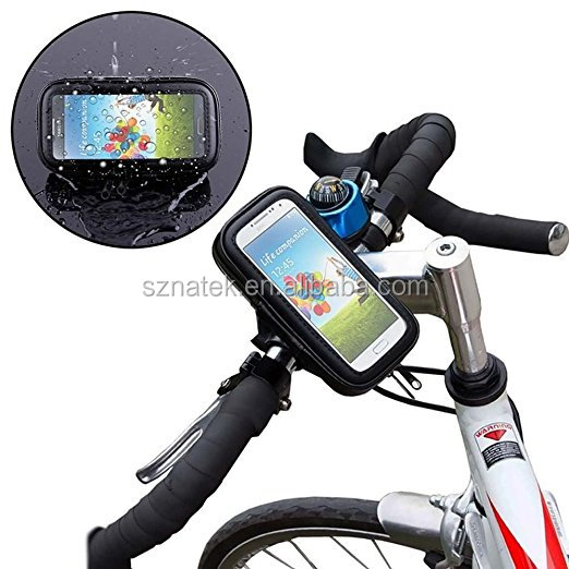 New Waterproof case Cycling Bike Mount Phone Cradle Holder Travel Stand for 3.5-6 inch mobile phone with certificate