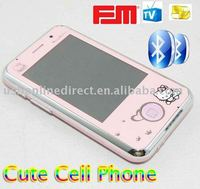 Cute Cartoon Cell Phone 2.2 inch Dual sim card Dual standby Quanband Bluetooth MP3