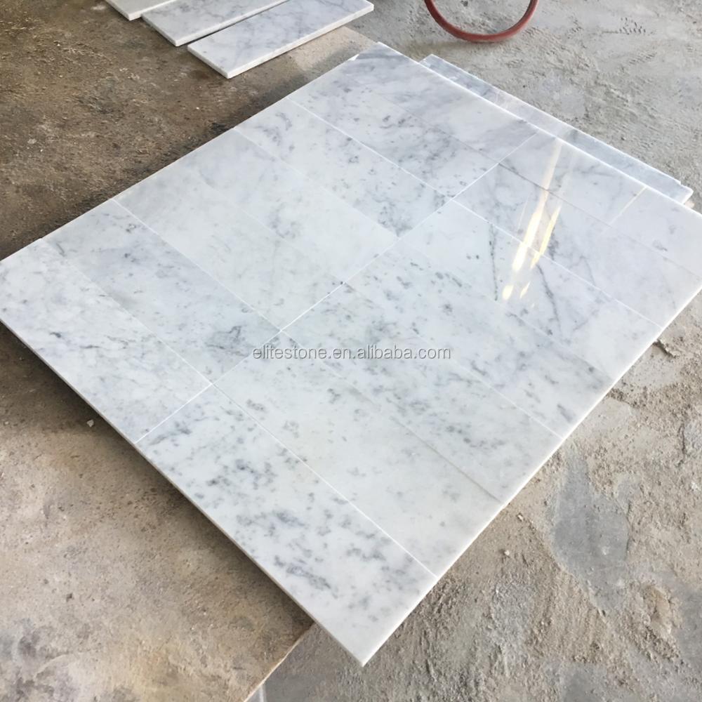 Bianco Carrara Calacatta White Marble Floor Tile For Bathroom - Buy ...