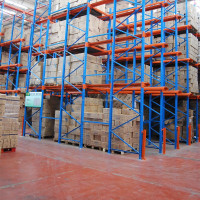 Q235B steel material powder coated no cross beams racks