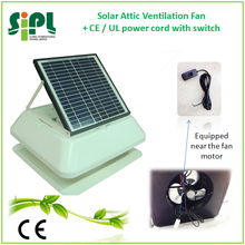 SUNNY ROOF FAN 18V High Energy Efficiency Brushless DC Motor with Cable Cord Switch Solar Powered Axial Flow Type Attic Gable Ve
