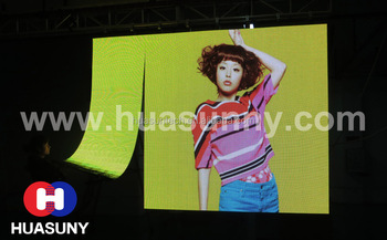 Soft LED Curtain Display Video Wall with Magnetic Combination P6 Pantalla LED flexible
