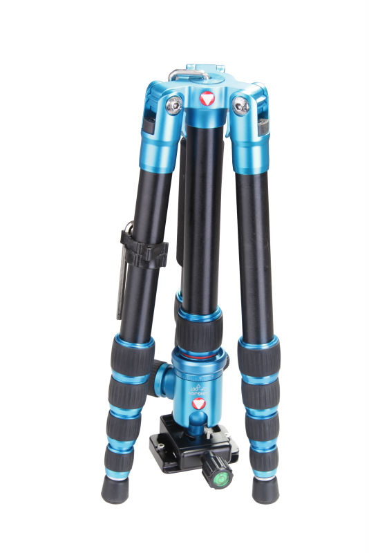 A-1229B mini flexible portable light weight travel tripod for camera with blue color