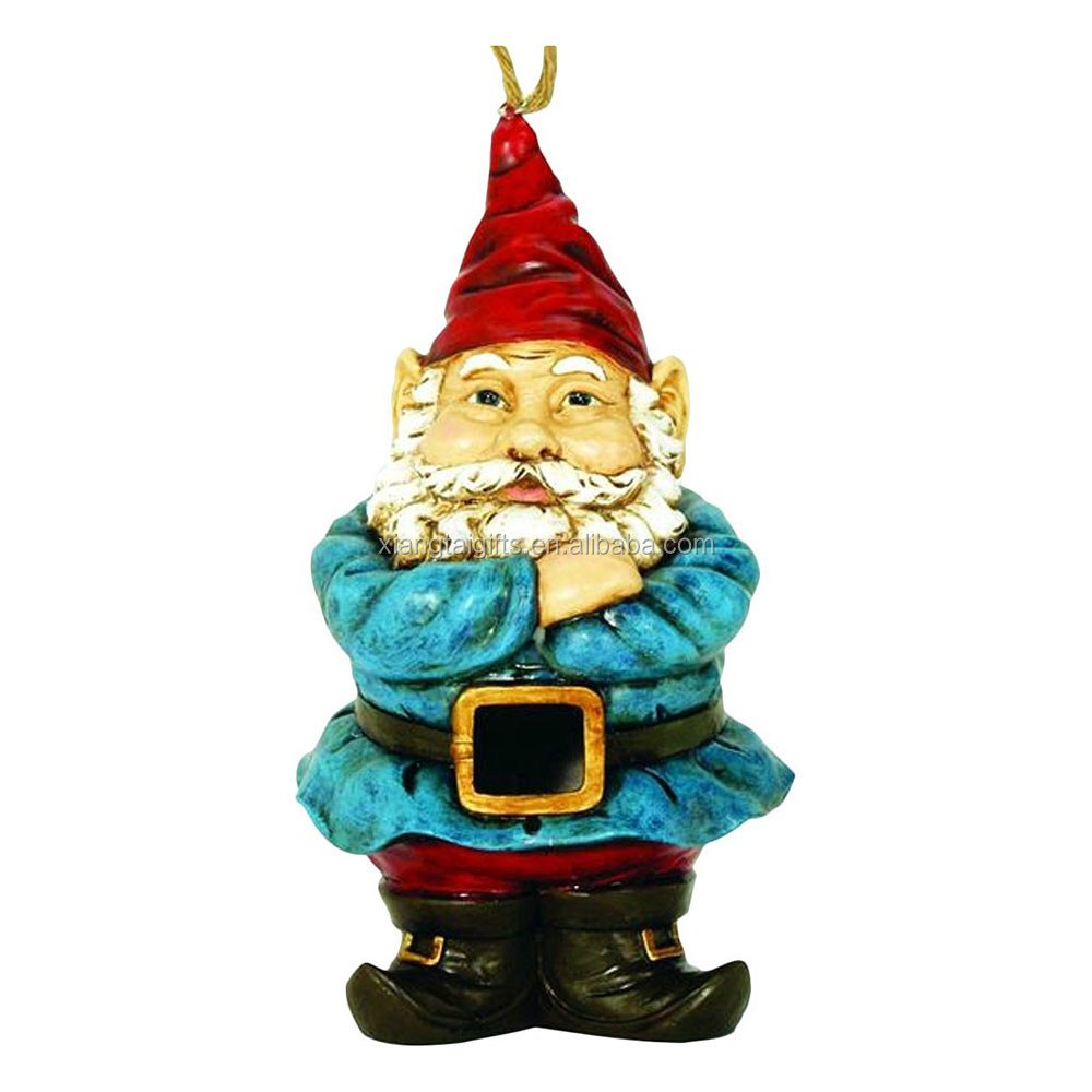 Garden Gnome Troll Birdhouse 10 Inch Resin Shaped Backyard Bird Decor