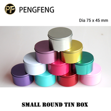 small metal tin box round tin box for candy chocolate