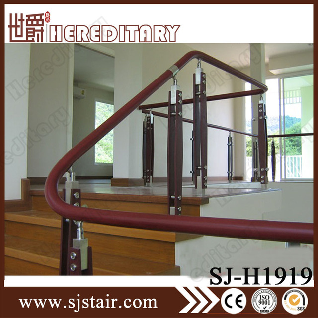 Satin Nickel Stair Balusters Handrails For Interior Staircase