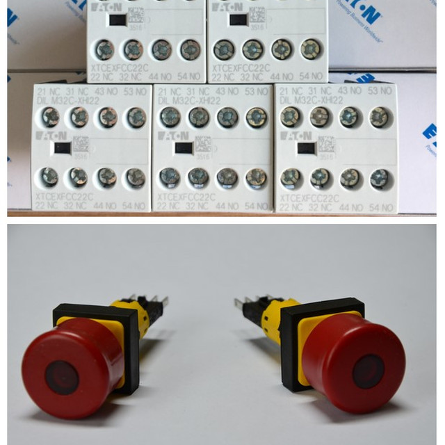 New and Original EATON DILEM-10 xStart DILEM 3Pole Contactor, 9A, 4kW, 24Vac Coil