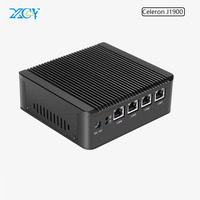 XCY Celeron Mini Computer J1900 Quad Core 2.0GHz Industrial PC with 4*Ethernet Lan USB Barebone Desktop 4G Ram 64G SSD Wifi