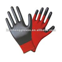 13G Nylon Coated Nitrile Grip Gloves